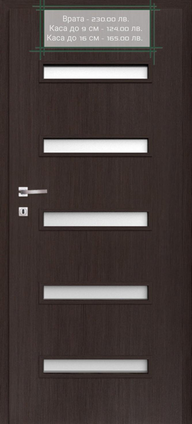 Врата Classen Сенчъри м.7 Тъмен дъб CPL Irid ламинат фолио  -  230.00лв