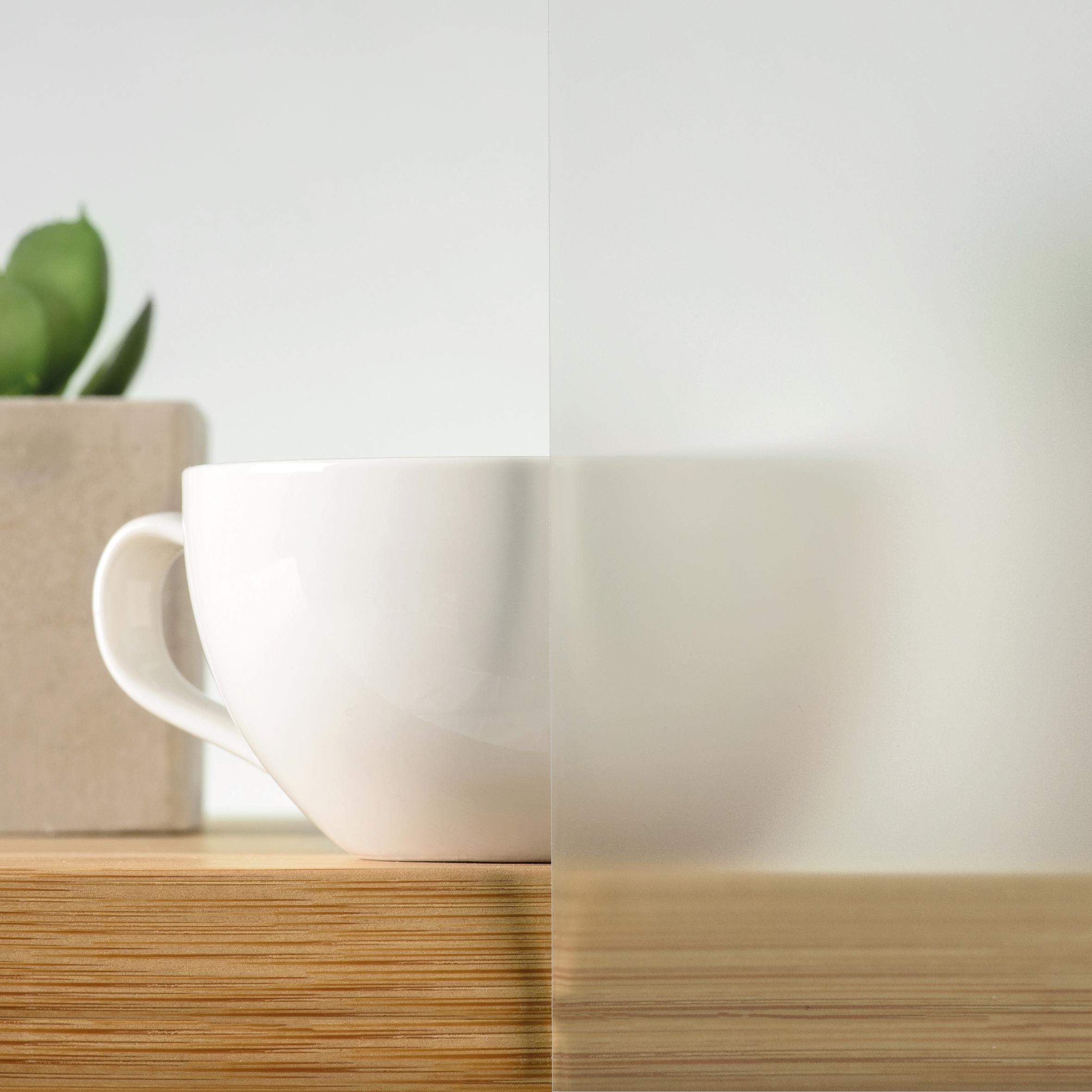 Закалено стъкло - бял мат