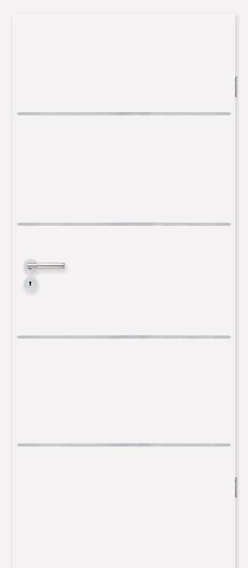 Врата Класен цвят Бял CPL ламинат фолио мод.5 - 330.00 лв.